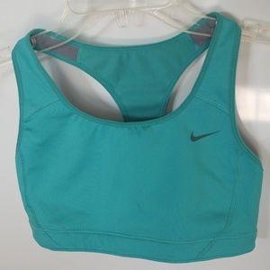 Nike racerback teal sports bra